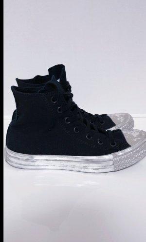 Converse Zapatillas altas blanco-color plata