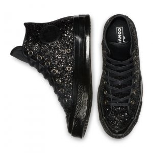 CONVERSE Chuck 70 After Party Glitter High Top - Gr. 39 - schwarz