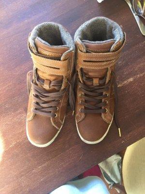 Converse chuck braune Leder Schuhe