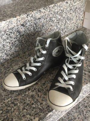 Converse Chuck Leder schwarz Gr.37,5