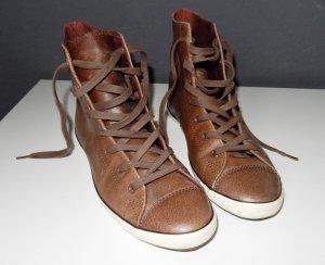 Converse Chuck Taylor All Star - braune Sneakers high aus Leder