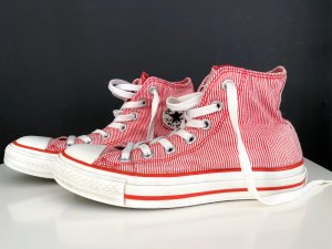 Converse High Top Sneaker white-red