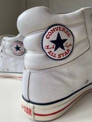 Converse Chuck Taylor All Star High Top Leder Weiss Größe EUR 42
