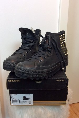 Converse High Top Sneaker black-gold-colored leather