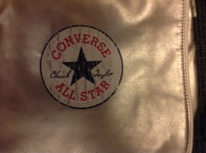 Converse Chuck Taylor All Star Tasche silber neuwertig