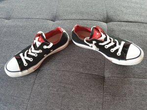 Converse Sneaker stringata nero-rosso