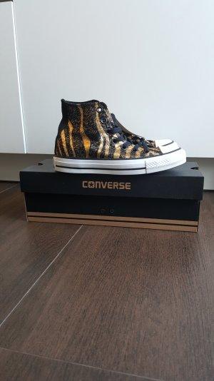 Converse Chucks 36 CT Hi Tiger Zebra schwarz/goldmetallic