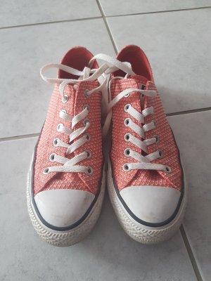 Converse Chucks 37,5, rot, lachs, Sneakers, 2 x getragen