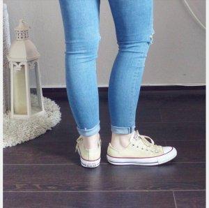 Converse Chucks All Star beige creme weiß Sneaker Turnschuhe Canvas
