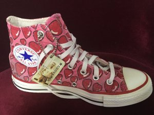 Converse Chucks All Star Taylor rosa mit Herzchen