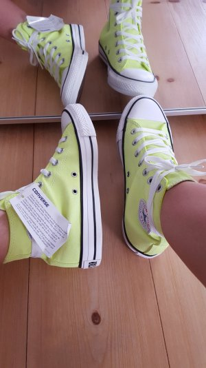 Converse Chucks All Stars neon gelb *Originaletikett dran