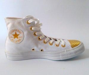 Converse Chucks Chuck Taylor All Stars CTAS hi 39,5 weiß gold NEU