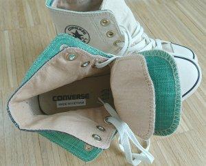 Converse Chucks | Creme/Wollweiß, Jeans, Grün | NEU ohne OVP | 36,5