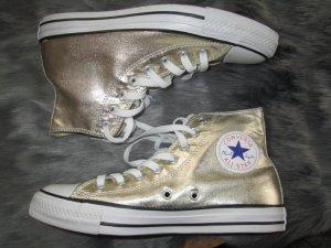 Converse Chucks CTAS Chuck Taylor Allstars high Gr. 40 gold neu