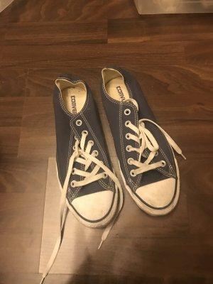 Converse Chucks dunkelblau flach zum schnüren Sneaker Schnürsenkel Turnschuhe