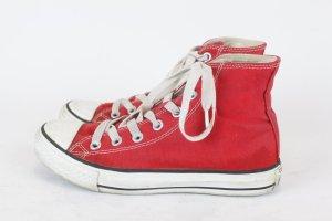 Converse Basket montante rouge fibre textile