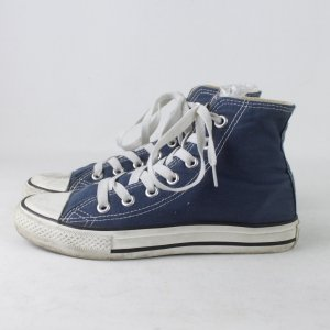 Converse Lace-Up Sneaker white-blue textile fiber