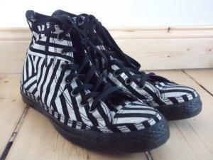 Converse Chucks Gr. 38 UK-Gr. 5,5 silber-schwarz