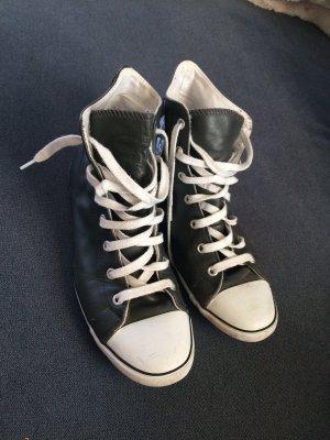 Converse Chucks in 39 dunkel grau/anthrazit Leder hoch