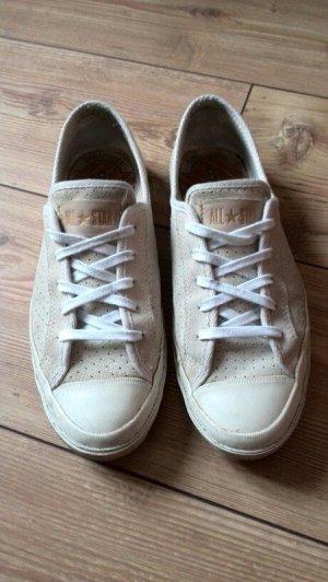 Converse Chucks Leder Gr. 40,5 US 9 nude beige