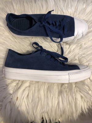 Converse Chucks low Leder, dunkelblau