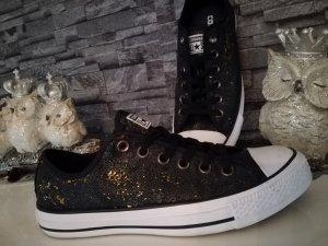 Converse Chucks mit Pailetten schwarz gold