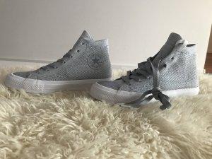 Converse Sneaker stringata argento