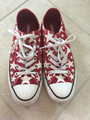 Converse Chucks rot mit weißen Sternen Größe 37,5