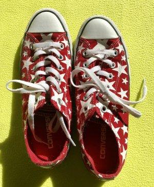 """Converse """"Chucks"""", rot mit weißen Sternen, Größe 39 (6)"""