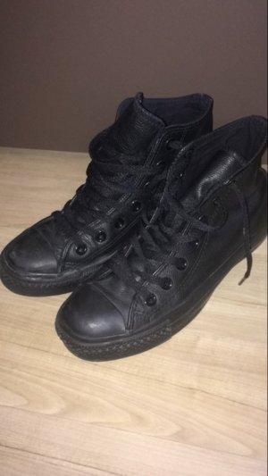 Converse Chucks schwarz Leder Gr. 37