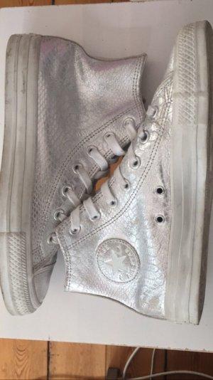 Converse Chucks Silver Reptile Leather 38