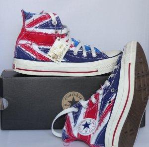 """Converse Chucks Sondermodell """"The Who"""" UK Flag Gr. 36 UK 3,5"""