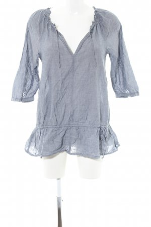 Converse Crash Blouse blue weave pattern casual look