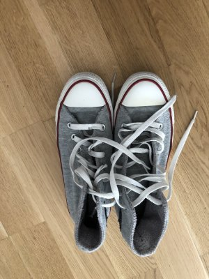 Converse Lace-Up Sneaker silver-colored cotton