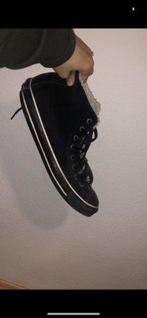 Converse Korte laarzen zwart-wit