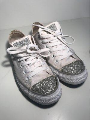 Converse Sneaker stringata bianco-argento