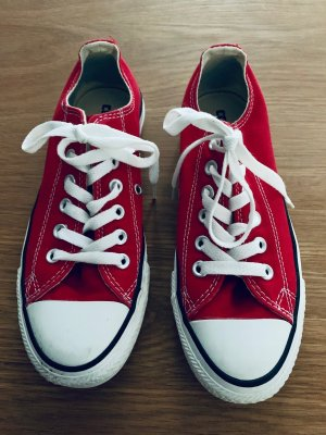 Converse flach in rot  Top Zustand