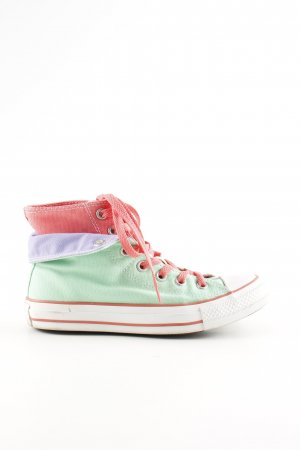 Converse High Top Sneaker grün-pink Casual-Look