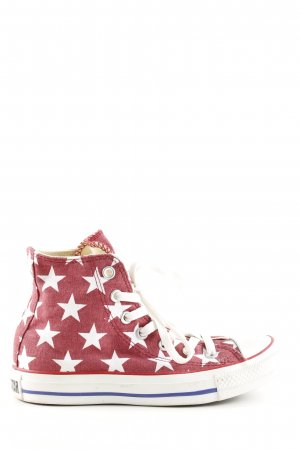 Converse High Top Sneaker rot-weiß Motivdruck Casual-Look