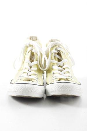 Converse High Top Sneaker blassgelb Casual-Look