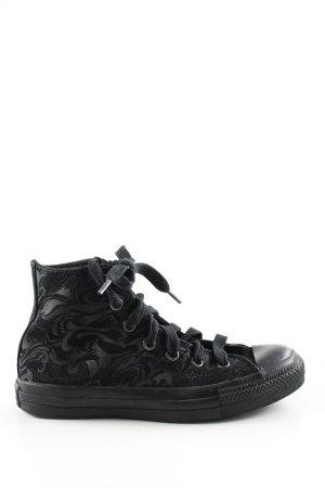 Converse High Top Sneaker schwarz abstraktes Muster Casual-Look