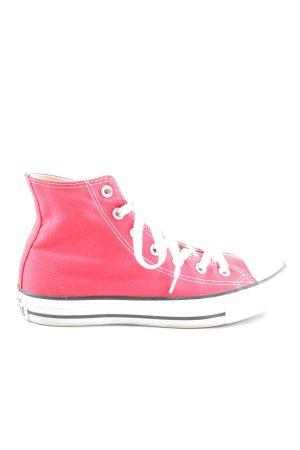Converse High Top Sneaker rot-weiß Casual-Look