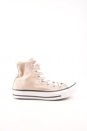 Converse High Top Sneaker nude-weiß Streifenmuster Casual-Look
