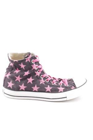 Converse High Top Sneaker hellgrau-pink abstraktes Muster Casual-Look