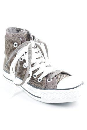 Converse High Top Sneaker weiß-dunkelbraun Skater-Look