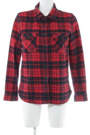 Converse Camicia da boscaiolo rosso scuro-nero motivo a quadri stile casual