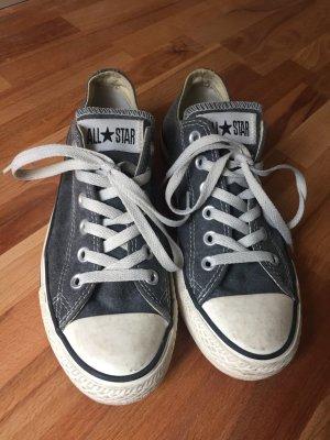 Converse in gewaschenem used Look, Dunkelgrau, Größe 38