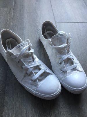 Converse Zapatilla brogue blanco-color plata