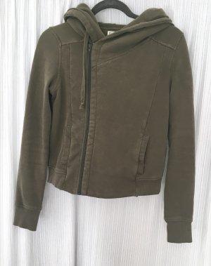 Converse Jacke Weste Hoodie Sweater Gr M oliv grün Sweatjacke