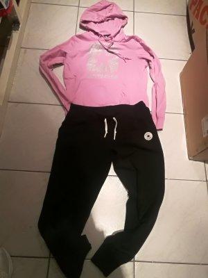 Converse Chándal negro-rosa